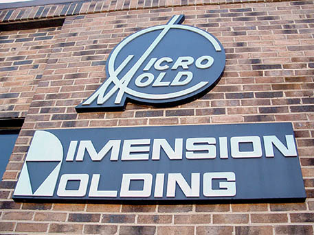MicroMold and Dimension Molding signs